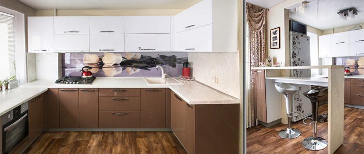 Кухонный гарнитур верх белый низ капучино кухонный гарнитуры томской фабрики