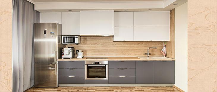 Дизайн кухни с коробом для вентиляции